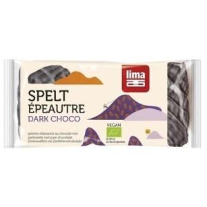 Rondele din spelta expandata cu ciocolata neagra eco 90g Lima