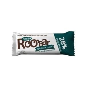 Baton proteic spirulina lamaie raw eco 40g Roobar