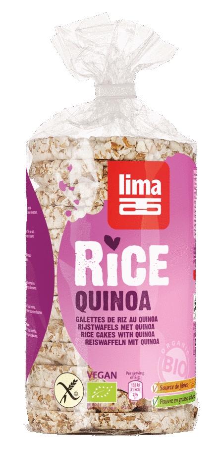 Rondele de orez expandat cu quinoa eco 100g