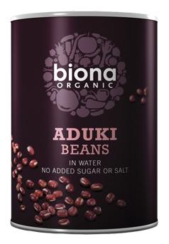 Fasole azuki boabe conserva bio 400g Biona