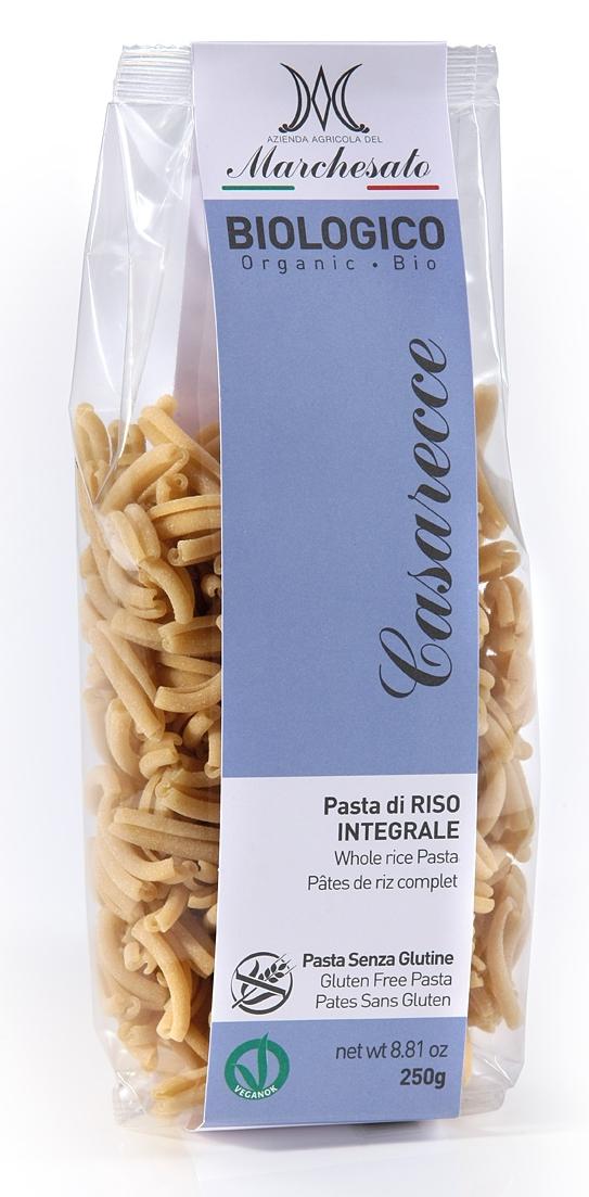 Paste casarecce din orez integral bio fara gluten 250g Marchesato