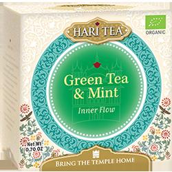 Ceai premium Hari Tea - Inner Flow - ceai verde si menta bio 10dz