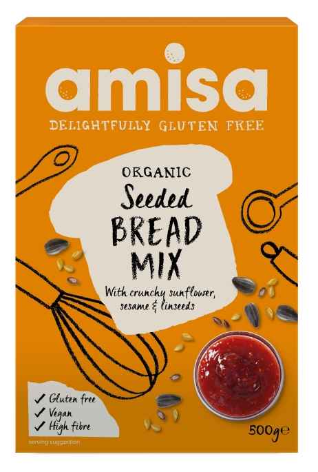 Mix pentru paine fara gluten cu seminte eco 500g