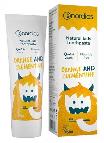 Pasta de dinti naturala pentru copii cu portocale si clementine 50ml Nordics