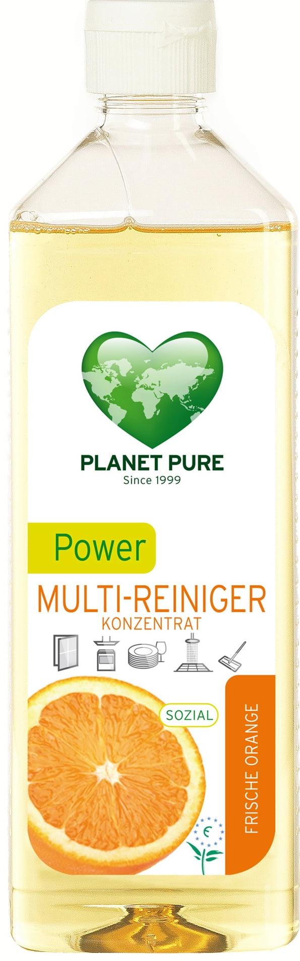 Detergent bio concentrat cu ulei de portocale Power Cleaner 510ml Planet Pure
