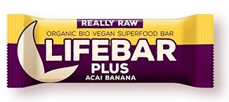 Lifebar plus baton cu acai si banane raw eco 47g