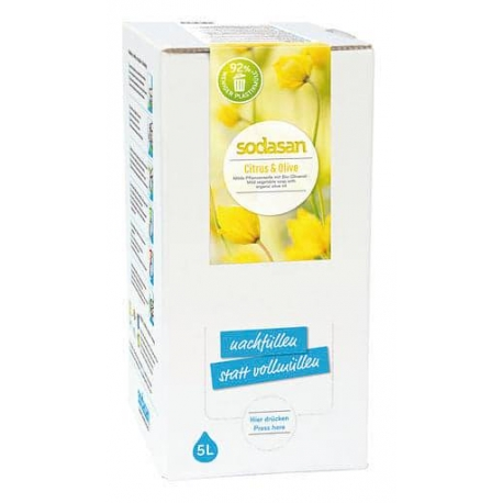 Sapun lichid gel de dus bio citrice masline 5L Sodasan