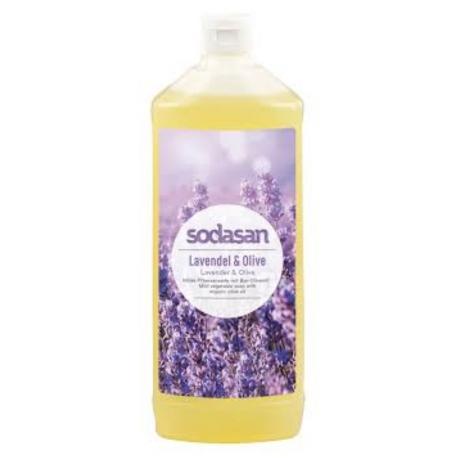 Sapun lichid gel de dus bio lavanda masline 1L SODASAN