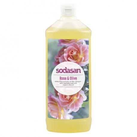Sapun lichid gel de dus bio trandafir masline 1L SODASAN