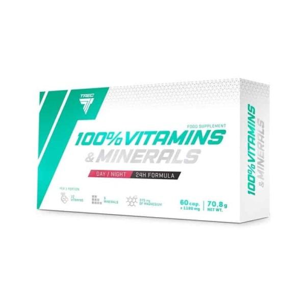 100 Vitamine si minerale 60 capsule Trec