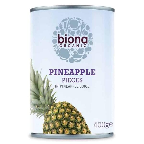 Ananas bucati in suc de ananas bio - Biona