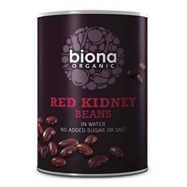 Fasole rosie red kidney boabe conserva bio 400g 1