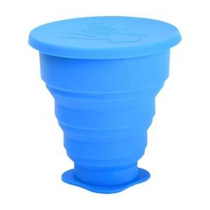 Pahar pliabil pentru igienizarea cupei menstruale albastru 225ml