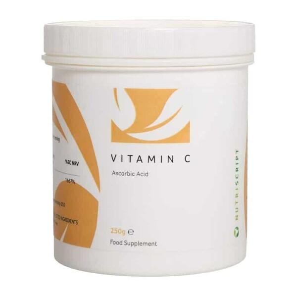 Vitamina C Acid Ascorbic pudra 250gr - Nutriscript