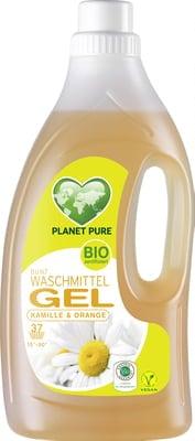 Detergent GEL bio de rufe colorate -musetel si portocale - 1.5L Planet Pure