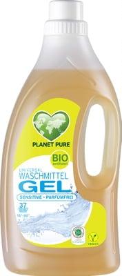 Detergent Gel bio de rufe hipoalergenic -fara parfum- 1.5L Planet Pure