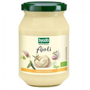 Aioli maioneza cu usturoi vegan bio 250ml - Byodo