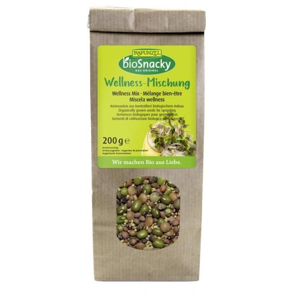 Amestec Wellness bio de seminte pentru germinat 200g - Rapunzel BioSnacky