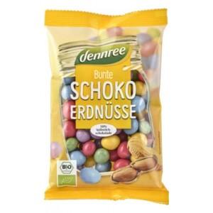 Arahide colorate cu ciocolata de lapte eco 100g - Dennree
