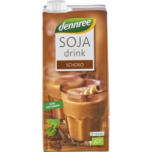 Bautura de soia bio cu ciocolata 1l - Dennree