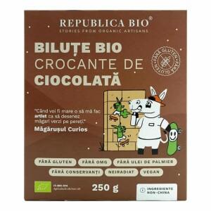 Bilute crocante de ciocolata FARA GLUTEN 250g - Republica bio