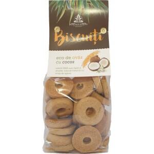 Biscuiti de ovaz cu cocos 250g - Moringa Eur