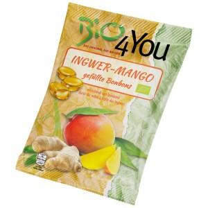 Bomboane bio cu ghimbir si mango 75g - Bio4You