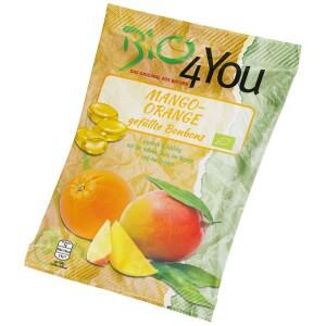 Bomboane bio cu mango si portocala 75g - Bio4You