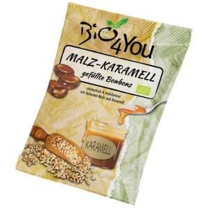 Bomboane cu malt  si caramel 75g - Bio4You