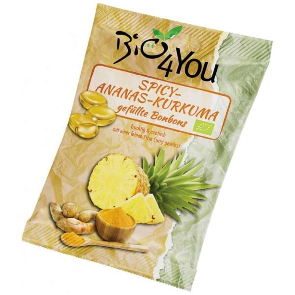 Bomboane picante cu ananas si curcuma 75g - Bio4You