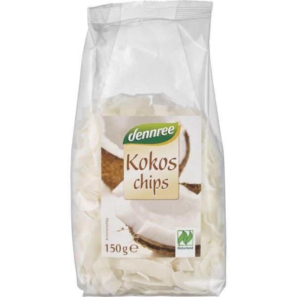 Chipsuri de cocos bio ecologice 150g - Dennree