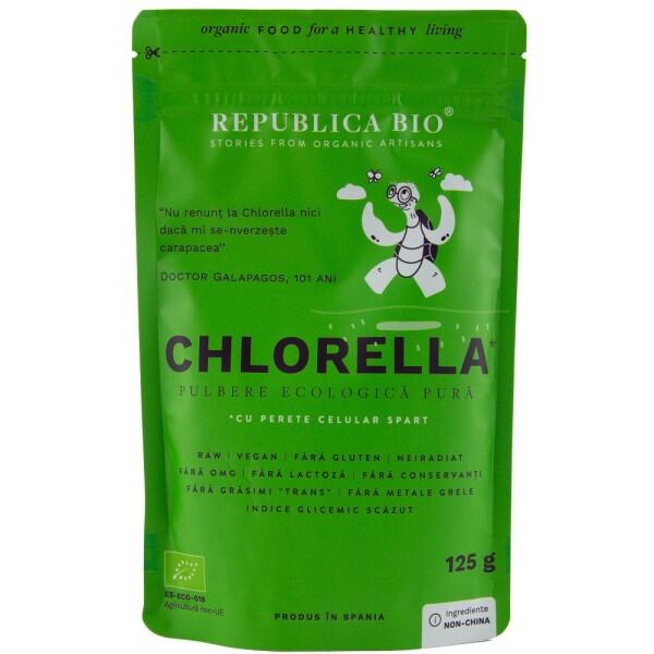 Chlorella pulbere ecologica pura 125g - Republica bio