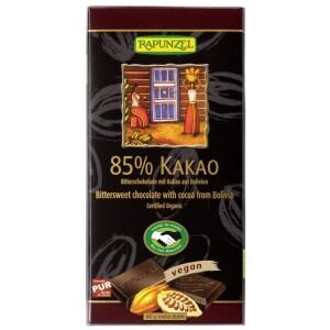 Ciocolata bio amaruie 85% cacao HIH 80g - Rapunzel