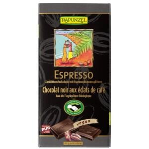 Ciocolata bio amaruie cu espresso si 55% cacao HIH 80g - Rapunzel