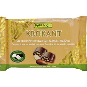 Ciocolata Bio Cristallino cu migdale crocante HIH 100g - Rapunzel