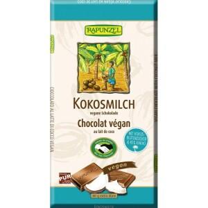 Ciocolata bio cu lapte de cocos vegana 80g - Rapunzel