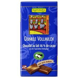 Ciocolata bio neagra cu lapte integral 46% cacao HIH 100g - Rapunzel