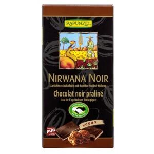 Ciocolata Bio Nirwana neagra cu praline 55% cacao 100g - Rapunzel