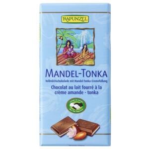 Ciocolata cu crema de Migdale si Tonka 100g - Rapunzel