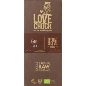 Ciocolata RAW VEGANA BIO 93% cacao eco 70g - Lovechock