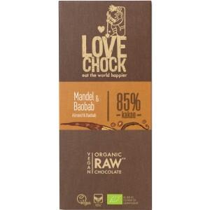 Ciocolata RAW VEGANA cu migdale si baobab 70g - Lovechock