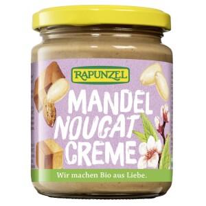 Crema cu migdale si nougat 250g - Rapunzel