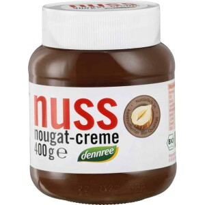 Crema de ciocolata cu alune Nuss-Nougat 400g - Dennree