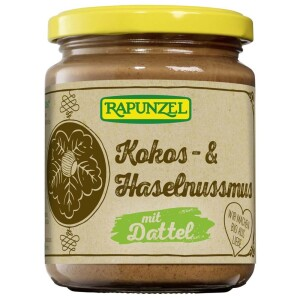Crema de cocos alune si curmale FARA ZAHAR 250g - Rapunzel