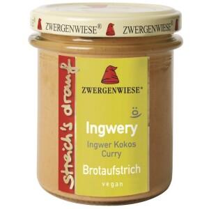 Crema tartinabila bio vegetala Ingwery cu ghimbir cocos si curry 160g - Zwergenwiese