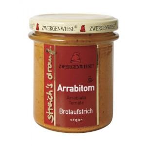Crema tartinabila vegetala Arrabitom cu arrabiata si tomate 160g - Zwergenwiese