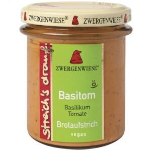 Crema tartinabila vegetala Basitom  cu busuioc si tomate 160g - Zwergenwiese