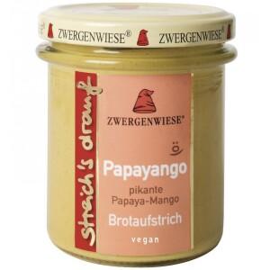 Crema tartinabila vegetala Papayango cu papaya picanta si mango 160g - Zwergenwiese
