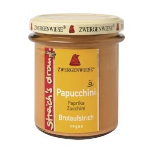 Crema tartinabila vegetala Papucchini cu ardei si zucchini 160g - Zwergenwiese