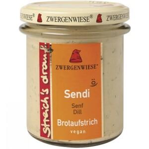 Crema tartinabila vegetala Sendi cu mustar si marar FARA GLUTEN 160g - Zwergenwiese